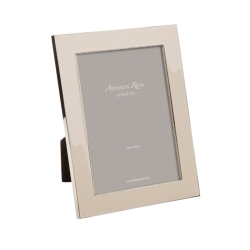 """Enamel Range Photograph frame, 5 x 7"""" with 24mm border, Pebble With Silver Plate"""