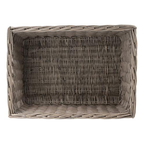 Antique Wash Storage basket, H23 x W34 x L47cm, Willow