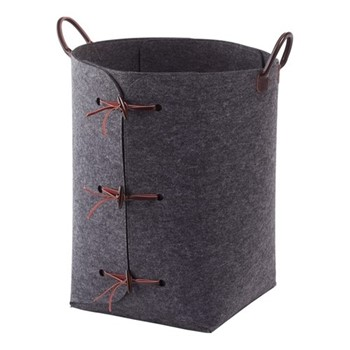 Resa Laundry bin, 45 x 55cm, dark grey