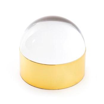 Globo Medium box, L22.86 x D12.7 x H14.05cm, clear/polished brass
