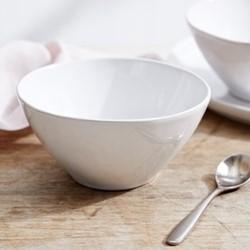 Portobello Cereal bowl, H7.4 x W15.2 x L15.2cm, white