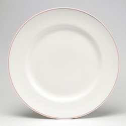 Dinner plate, 26cm, blush/white