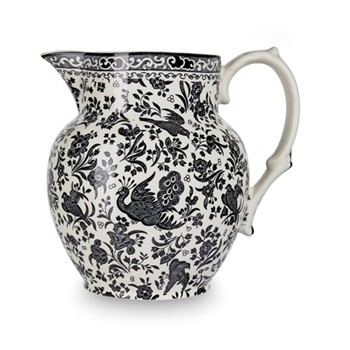 Regal Peacock Etruscan jug small, 1.1 litre - 2pt, black