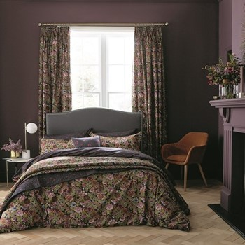 Hawards Garden King size duvet cover set, L220 x W230cm, aubergine