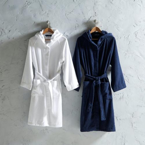 Brixton Bath robe, Large, Midnight
