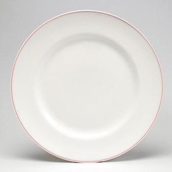 Dinner plate, 26cm, blush/white