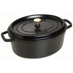 Oval cocotte, 31cm, black