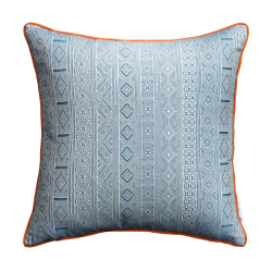 Halsey Cushion, 50 x 50cm, Blue Orange
