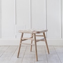 Kibo Small wooden stool, L40 x W40 x H46cm