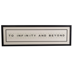 TO INFINITY AND BEYOND Large frame, 76 x 20cm