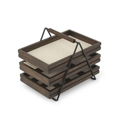 Terrace Jewelry tray, 25 x 18 x 20cm, black/walnut