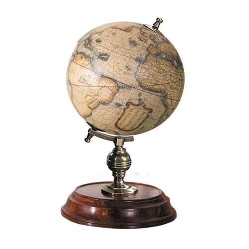 Student Globe, H19.5 x D11cm, Honey Distressed Wood