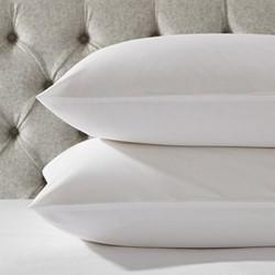 200 Thread Count Essentials Egyptian Cotton Standard pillowcase, 50 x 75cm, white