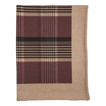Glen Blanket Stitched Woven throw, 170 x 135cm, tayberry