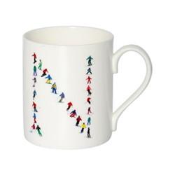 Alphabet - N Mug, H9.5 x W10.5 x D8.5cm - 35cl, muti