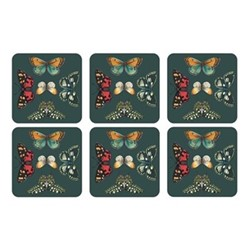 Botanic Garden Harmony Set of 6 square coasters, 10.5cm