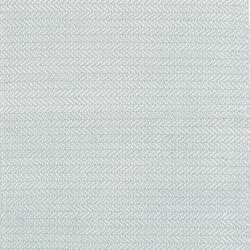 Herringbone Polypropylene indoor/outdoor rug, W122 x L183cm, Light Blue/Ivory