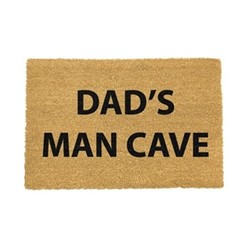 Funny Doormat - Dad's Man Cave, black/brown