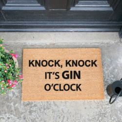 Gin O'Clock Doormat, L60 x W40 x H1.5cm