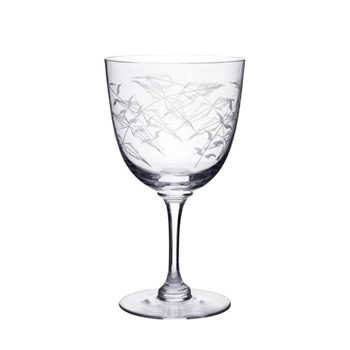 Fern Set of 6 wine glasses, H12.2cm, clear