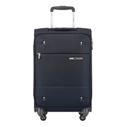 Base Boost Spinner suitcase, 55 x 35 x 20cm, navy blue stripes