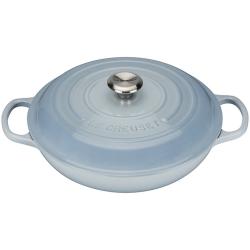 Signature Cast Iron Shallow casserole, 30cm - 3.2 litre, Coastal Blue