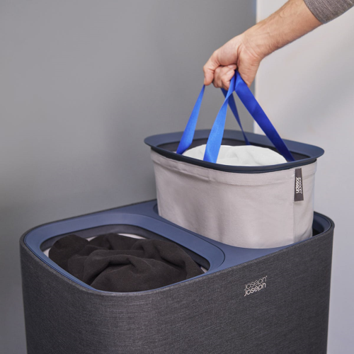 Tota Easy-Empty Laundry Basket 90 Litre Black