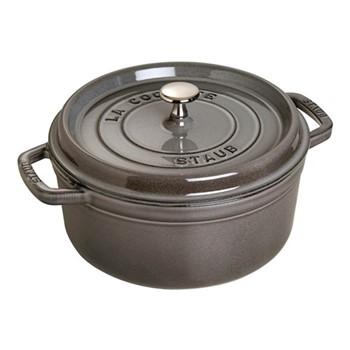 Round cocotte, 24cm, graphite grey