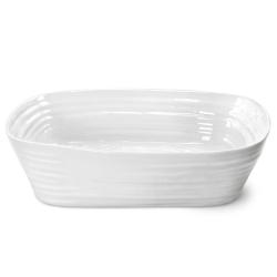 Ceramics Rectangular roasting dish, 29.5 x 24cm, White
