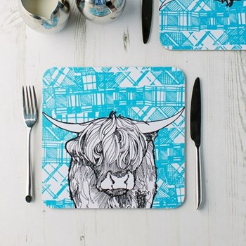 Pair of tablemats 23 x 23cm