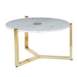 Lena Coffee table, H41 x D74cm, brass/gold