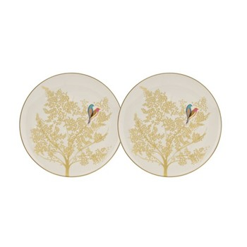 Chelsea Collection Pair of cake plates, 20cm, light grey