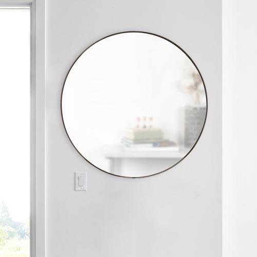 Hubba Mirror, 86 x 86cm, Titanium