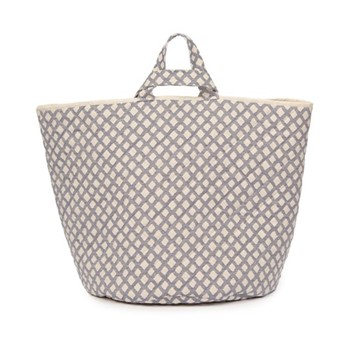 Cadogan Check Storage basket, 70 x 40cm, navy