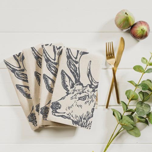 Stag Set of 4 napkins, 40 x 40cm