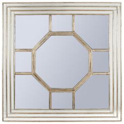 Hercule Square mirror, 122cm, metal frame
