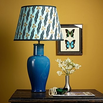 Lolita Medium table lamp - base only, H44 x W18cm, turquoise
