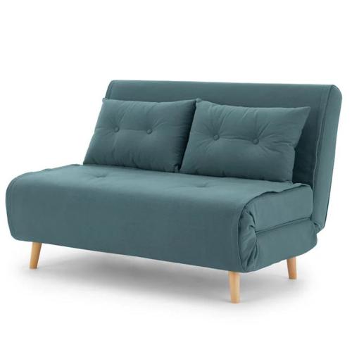 Haru Small sofa bed, H78 x W120 x D86cm, Sherbet Blue
