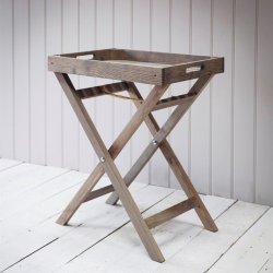Aldsworth Butlers tray and stand, H72 x W55 x D40cm, spruce wood
