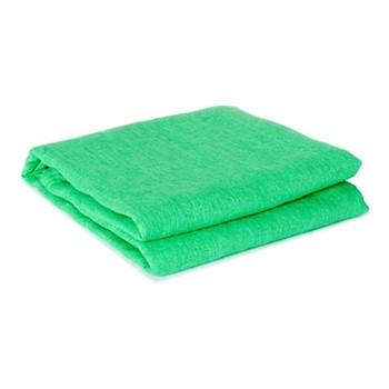 Linen beach towel, green