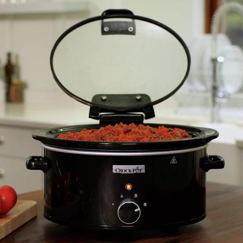 Hinged lid slow cooker, 5.7 litre, Black