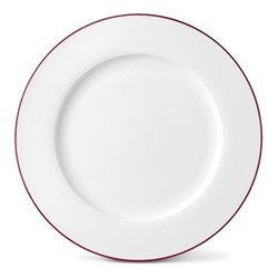 Rainbow Collection Dinner plate, 27cm, cerise pink rim