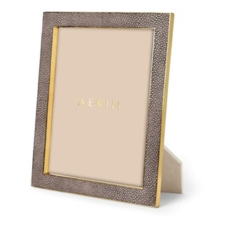 "Classic Shagreen Photograph frame, 8 x 10"", chocolate"