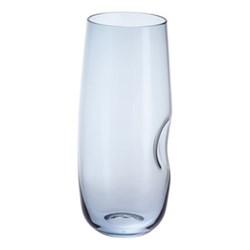 Hollow Pair of slim jim glasses, H16cm - 42cl, blue