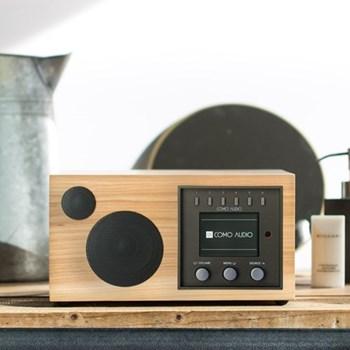 Solo Smart speaker, L24 x W18 x H13.2cm, hickory black
