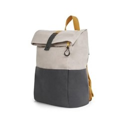 Lismore Waxed canvas backpack, H42 x W30 x D15cm, stone/yellow straps