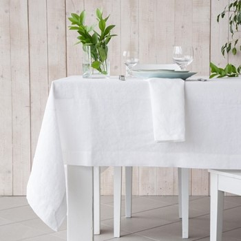 Porto Tablecloth, 175 x 300cm, white