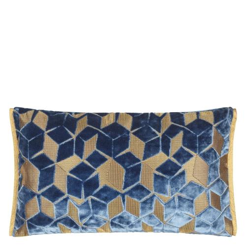 Fitzrovia Cushion, H30 x W50cm, Cerulean Blue
