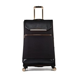 Albany Large 4 wheel spinner suitcase, L80 x W50 x D34cm, black