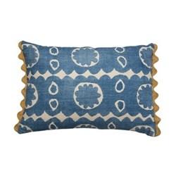 Osborne Cushion, 35 x 50cm, blue